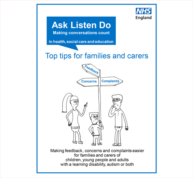 Ask Listen Do: Top tips for families and carers